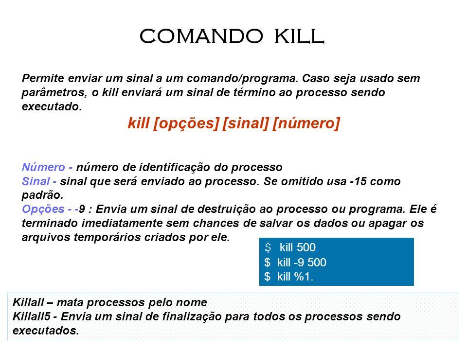 kill [opções] [sinal] [número]